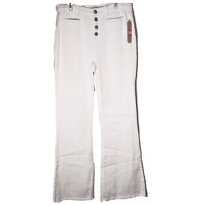 Gianni Bini White Flare Button Fly Jeans Size 9